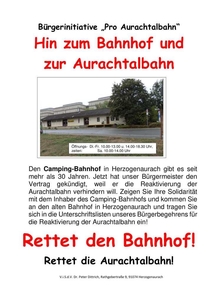Plakat Rettet den Bahnhof neu-1